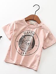 preiswerte -Kinder Mädchen Schwarz & Rot Solide Kurzarm T-Shirt