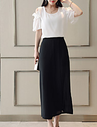 cheap -Women's Blouse - Solid Colored Pant
