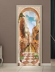 economico -Adesivi decorativi da parete / Adesivi per porte - Adesivi aereo da parete / Holiday Wall Stickers Forma / 3D Salotto / Camera da letto