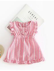 cheap -Baby Girls' Striped Sleeveless Dress