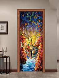 Недорогие -Декоративные наклейки на стены - Простые наклейки Пейзаж / 3D Кабинет / Офис / Детская