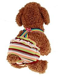 baratos -Animais de Estimação Macacão Roupas para Cães Riscas / Princesa Arco-Íris Tecido Alcochoado Ocasiões Especiais Para animais de estimação