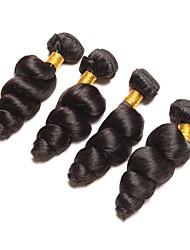 Недорогие -4 Связки Индийские волосы Волнистый 8A Натуральные волосы Человека ткет Волосы Удлинитель Накладки из натуральных волос Естественный цвет Ткет человеческих волос Удлинитель Горячая распродажа