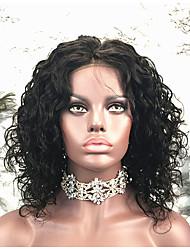 お買い得  -レミーヘア かつら ブラジリアンヘア カール ショートボブ 130% 密度 ショート 女性用 人毛レースウィッグ