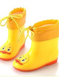 Недорогие -Девочки Обувь ПВХ Наступила зима Резиновые сапоги Ботинки для Зеленый / Синий / Розовый