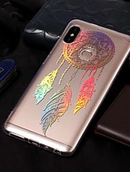 baratos -Capinha Para Xiaomi Redmi Note 5 Pro / Redmi 5A Galvanizado / Estampada Capa traseira Apanhador de Sonhos Macia TPU para Xiaomi Redmi