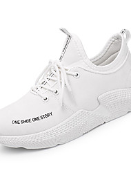 cheap -Men's Knit / Fabric Summer Comfort Athletic Shoes Running Shoes White / Black