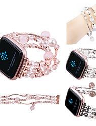 Недорогие -Ремешок для часов для Fitbit Versa Fitbit Дизайн украшения Керамика Повязка на запястье