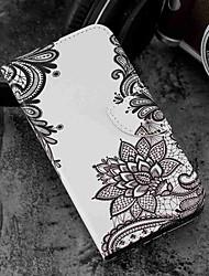 abordables -Coque Pour Wiko WIKO Sunny 2 plus Portefeuille / Porte Carte / Avec Support Coque Intégrale Fleur Dur faux cuir pour Wiko View prime / Wiko Lenny 4 PLUS