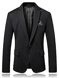 cheap -Men's Party Daily Business Casual Slim Blazer-Solid Colored Peaked Lapel / Please choose one size larger according to your normal size.