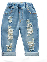 cheap -Baby Unisex Basic Solid Colored Hole Cotton Jeans / Toddler