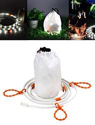 abordables -Lantern Lamp 6500K Ruban lumineux LED 1 Mode d'Eclairage Imperméable / Transport Facile Camping / Randonnée / Spéléologie Blanc