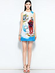 cheap -MARY YAN&YU Women's Street chic A Line Dress - Floral Beaded