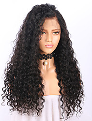 cheap -Remy Human Hair Lace Front Wig Brazilian Hair Curly Wig 130% With Baby Hair / Natural Hairline / African American Wig Women's Short / Long / Mid Length Human Hair Lace Wig