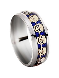 cheap -Skull Band Ring - 1 Circle Classic / Rock Silver Ring For Daily / Evening Party