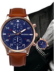 preiswerte -Herrn Kleideruhr Chinesisch Chronograph Leder Band Modisch / Minimalistisch Schwarz / Blau / Braun / SSUO LR626