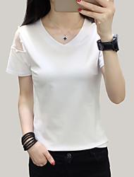 preiswerte -Damen Solide - Street Schick T-shirt Gitter