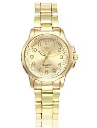 Недорогие -Жен. Нарядные часы Наручные часы золотые часы Кварцевый Серебристый металл / Золотистый Новый дизайн Повседневные часы Аналоговый Дамы Мода Элегантный стиль - / Один год / Один год