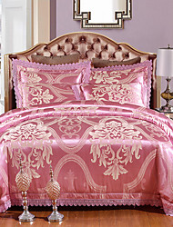 cheap -Duvet Cover Sets Luxury 100% Tencel Jacquard 4 Piece
