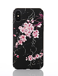 economico -Custodia Per Apple iPhone X / iPhone 8 Fantasia / disegno Per retro Fiore decorativo Resistente PC per iPhone X / iPhone 8 Plus / iPhone 8