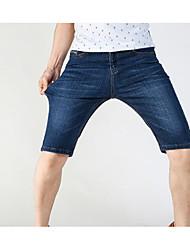 abordables -Hombre Tallas Grandes Shorts Pantalones - Un Color Estampado