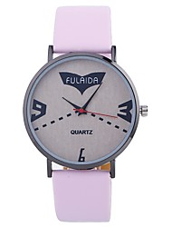 cheap -Women's Wrist Watch Quartz Casual Watch Large Dial PU Band Analog Fashion Minimalist Black / White / Silver - Fuchsia Brown Pink One Year Battery Life