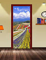 abordables -Calcomanías Decorativas de Pared Pegatinas de puerta - Calcomanías 3D para Pared Paisaje 3D Sala de estar Dormitorio Baño Cocina Comedor
