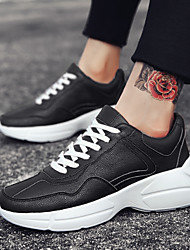 billige -Herre PU Sommer Komfort Sneakers Hvid / Sort / Rød