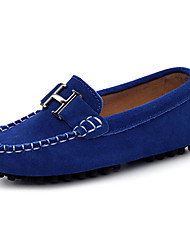 cheap -Boys' Shoes Cowhide Spring & Fall Comfort Loafers & Slip-Ons for Black / Brown / Royal Blue