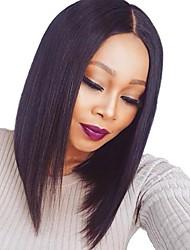 billige -Remy hår Paryk Brasiliansk hår Lige Kort bob 130% Massefylde Kort Dame Blondeparykker af menneskehår