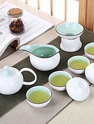 baratos -9pcs Porcelana Jogo de Chá Heatproof ,  13*7;12*6.3;9*6.3;6.5*3cm