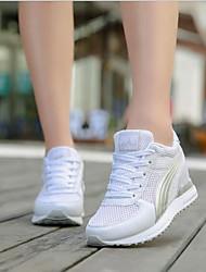 abordables -Femme Chaussures Tulle Printemps Automne Confort Basket Hauteur de semelle compensée pour Décontracté Blanc Noir Gris