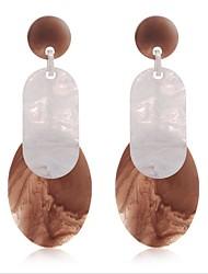 cheap -Women's Stud Earrings / Drop Earrings / Hoop Earrings - Leaf European Black / Green / Light Coffee For Wedding / Daily