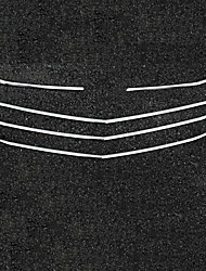 Недорогие -5 шт. Автомобиль Отделка передней решетки автомобиля Деловые Тип пасты For Решетка для автомобилей / Верхняя часть передней решетки For