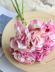 economico -Fiori Artificiali 3 Ramo Stile semplice / Bouquet sposa Ortensie Fiori da tavolo