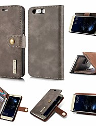 cheap -Case For Huawei P20 / P20 lite Wallet / Card Holder / Flip Full Body Cases Solid Colored Hard PU Leather for Huawei P20 / Huawei P20 Pro