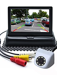 cheap -ZIQIAO 4.3inch TFT-LCD CCD Wired 170 Degree Car Rear View Kit Foldable / Waterproof for Car