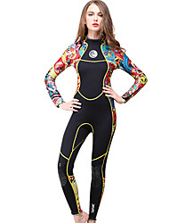 cheap -HISEA® Women's Full Wetsuit 3mm SCR Neoprene Diving Suit Thermal / Warm Long Sleeve Solid Colored / Back Zipper Spring / Winter