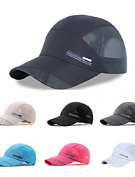 cheap -Hat Summer Quick Dry / Breathability Hiking / Climbing / Traveling Unisex Mesh Solid Colored