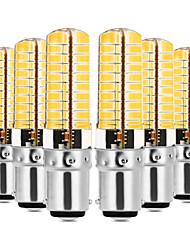 Недорогие -YWXLIGHT® 6шт 7W 600-700lm BA15D Двухштырьковые LED лампы T 80 Светодиодные бусины SMD 5730 Диммируемая Тёплый белый / Холодный белый