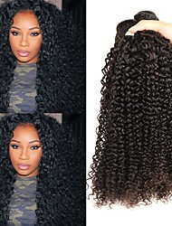cheap -Malaysian Hair Curly Natural Color Hair Weaves / Human Hair Extensions 4 Bundles Human Hair Weaves Best Quality / New Arrival / For Black Women Natural Black Human Hair Extensions Women's
