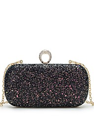 cheap -Women's Bags PU Leather Evening Bag Crystals Black / Blushing Pink / Purple