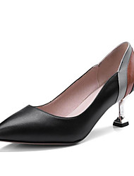cheap -Women's Shoes Nappa Leather Fall Basic Pump Heels Stiletto Heel Pointed Toe for Office & Career / Party & Evening Black / Beige