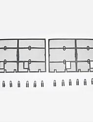 Недорогие -2pcs Автомобиль Отделка передней решетки автомобиля Faveolate Тип пряжки For Верхняя часть передней решетки For Toyota Prado 2018