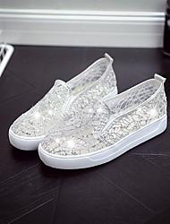 abordables -Femme Chaussures Similicuir Printemps Ballerine Ballerines Talon Plat Blanc / Noir / Beige