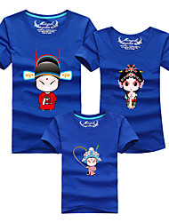 cheap -3 Pieces Toddler Family Look Color Block Short Sleeve Tee