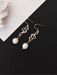 cheap -Women's Drop Earrings / Hoop Earrings - S925 Sterling Silver, Freshwater Pearl Simple, Fashion Gold For Gift / Festival