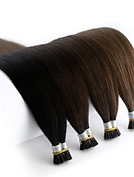 cheap -Neitsi Fusion / I Tip Human Hair Extensions Straight Black Blonde Human Hair Extensions Remy Human Hair Brazilian Hair 1pack Extention / New Arrival / Hot Sale Women's / Female