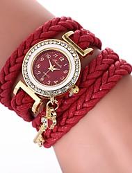abordables -Mujer Reloj Pulsera Chino Reloj Casual / La imitación de diamante PU Banda Bohemio / Moda Negro / Blanco / Azul / Un año