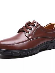 povoljno -Muškarci Cipele Koža Jesen Udobne cipele Oksfordice Crn / Braon / Koža